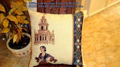 Seville Art  Vintage historic tradition pillow cover by SABDECO, €31.00