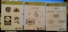Stampin Up FRIENDS NEVER FADE, YOU'RE LOVELY, SIMPLY WONDERFUL lot 3 Stamp Sets #StampinUp #SayingsWordsFlowersTagsFrames