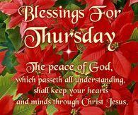 Blessings For Thursday