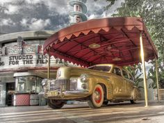 HDR photo at Walt Disney World, Disney's Hollywood Studios. High dynamic range photography of an antique / vintage car.