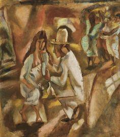 Scene de Cabaret a la Havane, Dit Le Couple 1915. Jules Pascin (1885 - 1930)