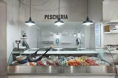 Seafood Store, Seafood Market, Seafood Restaurant, Restaurant Design, Meat Store, Cafe Interior, Commercial Design, Retail Design, Stores