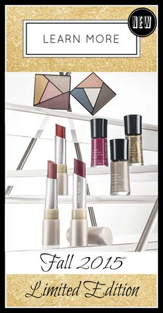 Brand New Mary Kay City Modern Collection includes these fabulous Limited Edition Items.  See more here:  http://www.marykay.com/Kelli_J/en-US/TipsAndTrends/Trend/Pages/Limited-Edition-City-Modern-Collection.aspx?iad=hp_hero_citymodern