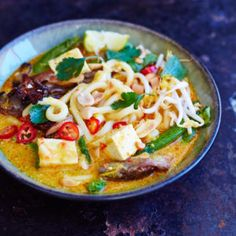 Recipe: spicy noodle soup with tofu