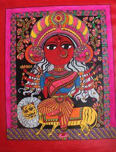 Beautiful Om Namah Shivaya, Madhubani Art, Madhubani Painting, Indian Contemporary Art, Kalamkari Painting, Indian Folk Art, Art N Craft, Traditional Paintings, Indian Gods