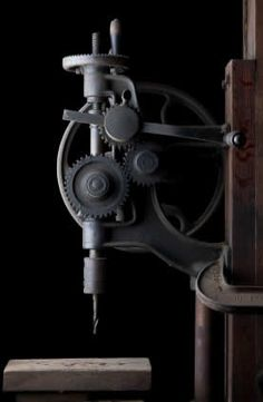 antique hand operated drill press