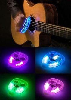 Glowing guitar pick
