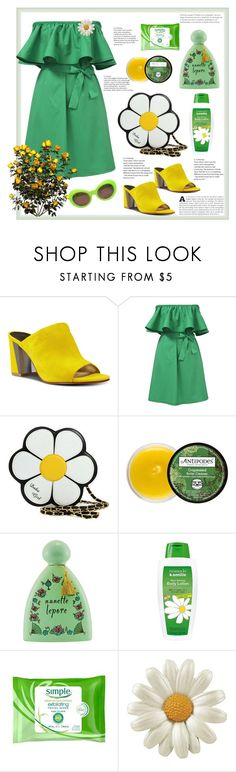 """GREEN colour."" by natalyapril1976 on Polyvore featuring Mode, Nine West, Antipodes, Nanette Lepore, Herbacin, Simple und Versace"