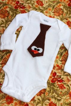Easy DIY Baby Onesie - Baby's First Thanksgiving!