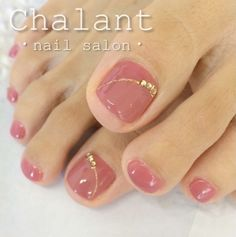 20 Zehennagel-Designs - The most beautiful nail designs Pretty Toe Nails, Cute Toe Nails, Fancy Nails, Trendy Nails, My Nails, Gold Toe Nails, Blush Pink Nails, Taupe Nails, Jamberry Nails