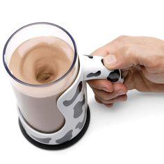 The Messless Chocolate Milk Mixing Mug - Hammacher Schlemmer