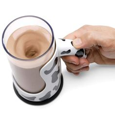 The Messless Chocolate Milk Mixing Mug - Hammacher Schlemmer