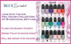 Win This NYX Nail Polish Set! FLASH #GIVEAWAY! HURRY! 6 HOUR FLASH!!! http://www.styledecordeals.com/2013/09/win-this-nyx-nail-polish-set-flash.html
