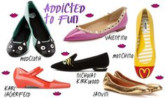 The ballet flat shoes