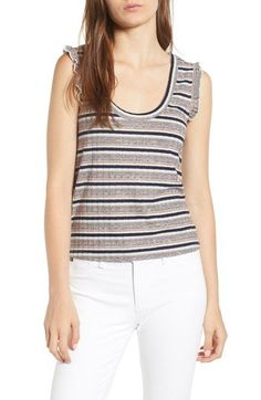 Cupcakes and Cashmere NWT Brittney Stripe tank Bold Stripes, Striped Tank, Spring Summer 2018, Second Hand Clothes, Basic Tank Top, Cashmere, Tank Tops, Tees, Women