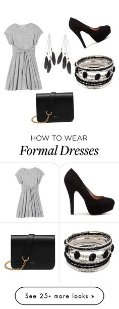 """Basic Formal"" by silverbeauty06 on Polyvore featuring Rebecca Taylor, Charlotte Russe and Mulberry"