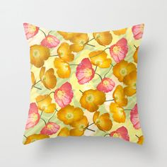 Poppy photo pillow summer pillow pink poppy by NewCreatioNZ