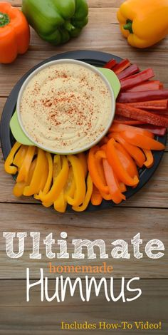 Smooth, Ultimate Hummus with that classic taste you are looking for. This quick and easy hummus can be whipped up in under 10 minutes and is 100% organic! Recipe includes how-to video! Vegan, Gluten-Free