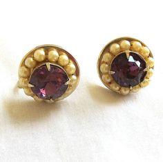 Vintage Purple Rhinestone and Faux Pearls by BillsVintageVault, $14.00