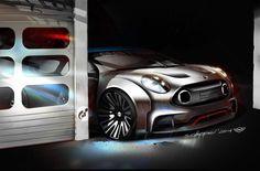 MINI Clubman Vision Gran Turismo - Design Sketch Render