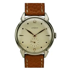 Lemania Stainless Steel  New Old Stock Wristwatch circa 1950s