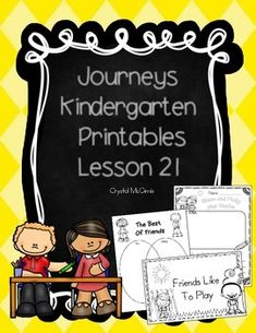 I created this set of supplementary printables to use while I am teaching lesson 21 of the Kindergarten Journeys reading series. We use the 2011 version of Journeys. This set includes whole group activities, independent practice, and a small group emergent reader.