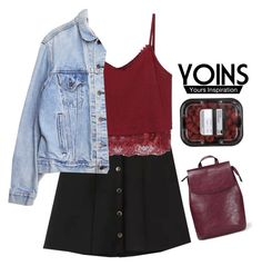 """#Yoins"" by credentovideos ❤ liked on Polyvore featuring Levi's"