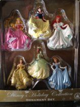 Disney Princess Figurine Ornament Set of 6 NEW