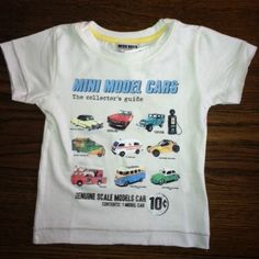 NWT Mish Boys Mish Mish Model Cars T-shirt Tee White sz 4 Boutique Brand More sizes available