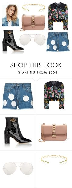 """""""ONLY ANGEL"""" by laura-melissa-cortes on Polyvore featuring Courrèges, Charo Ruiz, Gucci, Valentino, Linda Farrow y Sabine Getty"""