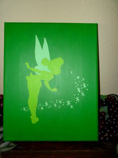 So gonna do this to go with my tinker bell painting
