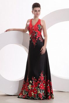 Flattering Crossed Straps Back A-line Full Length Evening Dresses With Printed Flowers Cheap Evening Dresses, Cheap Prom Dresses, Formal Dresses, Wedding Dresses, Marine Ball Dresses, Bat Mitzvah Dresses, Silhouette, Plus Size Wedding, Designer Dresses