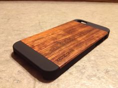 IPHONE 5 CASE  real wood rich polished EXOTIC by GRAINCASES, $29.95. I got this for my husband for Christmas and it's gorgeous!