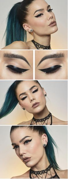 """90's chic. Just a little 90's attitude to bring to the post but anybody in the 90s would've chucked their homemade crushed can pipe at you for using the words 90s chic. (For Historical accuracy) LoL  Linda Hallberg. Kat Von D """"Trooper"""" Tattoo liner. I also like the look of KVD's """"Neruda"""" (white) tattoo liner, although I have never tried her line of makeup. The tattoo concealer and lock-it tattoo foundation look to be nice quality as well."""