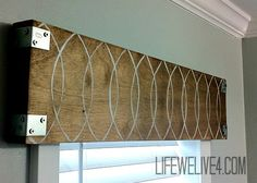 Guest Post: Life We Live 4 - Industrial Wooden Valance - The Golden Sycamore