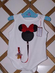 Body Minnie con chupetero