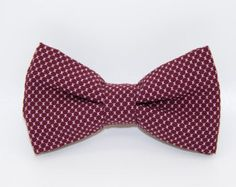 ccccd4276ff7 Albert bow tie by CroqueMonsieur on Etsy Tie And Pocket Square, Wedding  Ties, Rouge