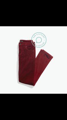 I'm hoping for burgundy jeans!