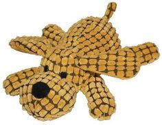 Patchwork Pet Waffle Wags Dog 14-Inch Squeak Toy for Dogs