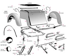 Servicar parts photo could be used to scratch build a service car model Motorcycle Trike Kits, Vw Trike, Motorcycle Design, Custom Trikes, Custom Choppers, Harley Davidson, Go Kart Plans, Mini Chopper, Motorised Bike