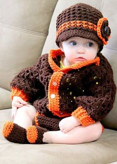 Crochet outfit--love this hat!
