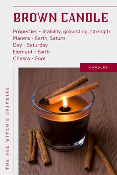 Brown Candles, Diy Candles, Candle Magic, Candle Spells, Candle Craft, Candle Set, Candle Meaning, Wiccan Rede, Magic Crafts