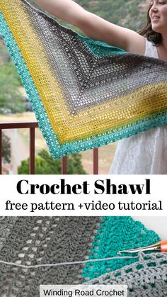 Desert Sunset Shawl: Free Crochet Pattern - Winding Road Crochet Learn the fact (generic term) of ho Crochet Shawl Free, Crochet Gratis, Crochet Shawls And Wraps, Knit Or Crochet, Crochet Scarves, Crochet Stitches, Crochet Hooks, Shawl Patterns, Crochet Patterns