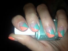 Coral and teal!