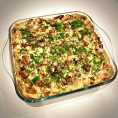 Potato bake with bacon & veggies Fried Butter, Small Tins, Frying Oil, Pan Set, The Dish, Tray Bakes, Fries, Bacon, Veggies