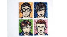 Julian Opie-inspired jellybean portrait - Recipes - Edible Masterpieces - Art Fund