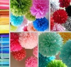 Pompones de papel de seda by Lee Coetzee