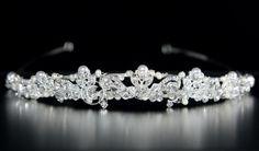 Wedding Tiara with Pearls Crystals and Rhinestones