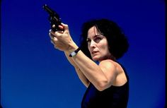 Give her salt & pepper hair and she is Beryl, fighting to avenge her daughter and stop the Azrael (Still of Carrie-Anne Moss in Suspect Zero)