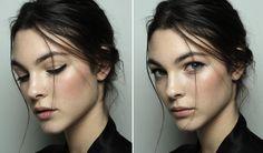 Vittoria Ceretti with the Dolce&Gabbana Fall Winter 2014-15 fashion show makeup.